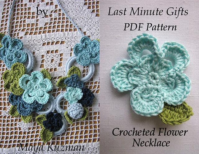 Ravelry Flower Necklace Tutorial Pattern By Maya Kuzman
