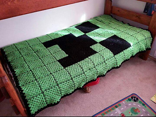 Ravelry Minecraft Creeper Face Afghan Pattern By Stellar