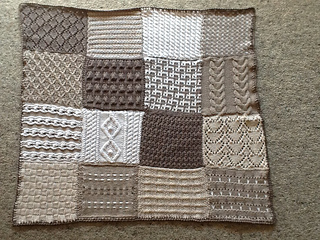 ravelry sampler afghan knit pattern by red heart design