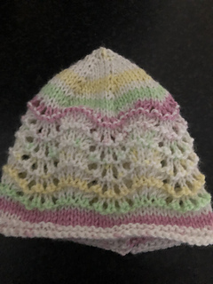 baae0c5f8fbf Ravelry  Old Shale Lace Baby Hat pattern by marianna mel