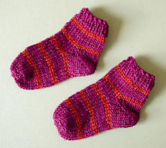 Ravelry Toe Up Baby Socks Pattern By Sheila Toy Stromberg