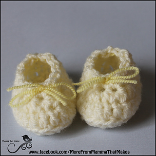 Ravelry  Mini Gathered Flats - Crocheted Preemie Booties pattern by  Myshelle Cole 6d05ec72bcc