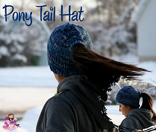 Ravelry  Pony Tail Hat pattern by Isela Phelps 9a7d8c59c22
