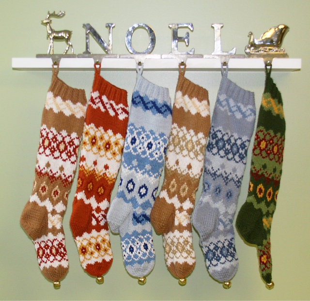 Ravelry: Knitted Fair Isle Christmas Stocking Pattern pattern by Rebecca Shrider