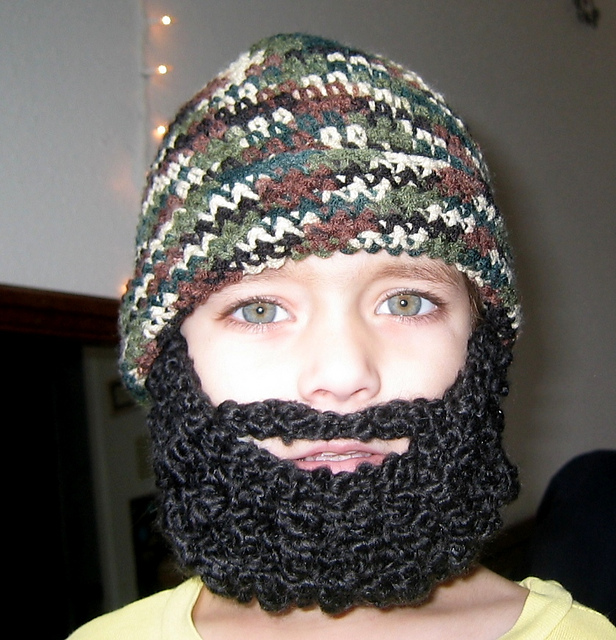 Ravelry Child Beard Beanie Hat Pattern By Celina Lane