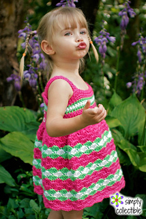 4169908fffae Ravelry  Garden Party Baby Dress pattern by Celina Lane