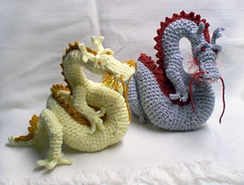 Crochet Amigurumi Dragon : Ravelry asian dragon amigurumi pattern by christina powers
