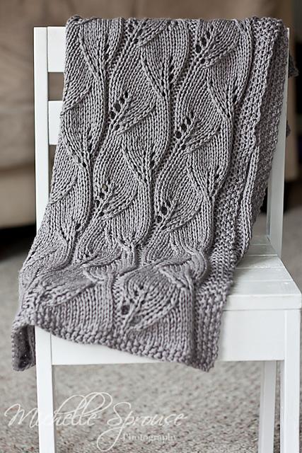 Ravelry Leafy Baby Blanket Pattern By Leyla Alieva