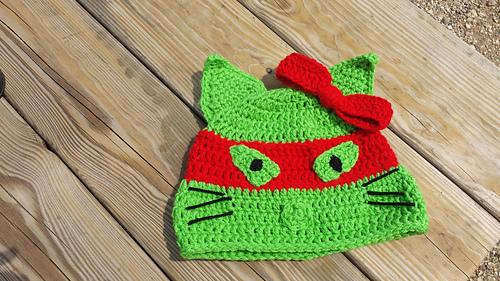 Ravelry Hello Kitty Meets Tmnt Hat Pattern By Raechel Mayfield