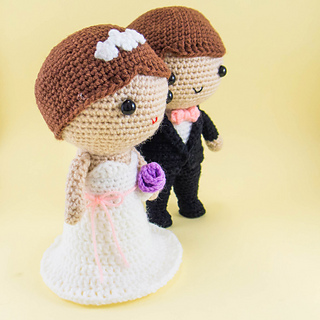 Amigurumi Free Pattern Couple : Ravelry: Bride and Groom Amigurumi pattern by snacksies ...