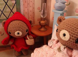 Amigurumi Teddy Bears : Ravelry little red riding hood her granny amigurumi teddy bear