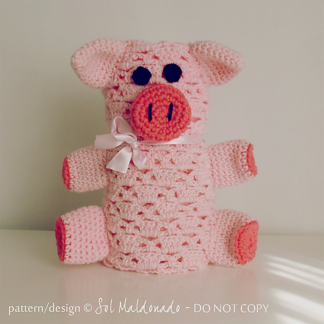 Ravelry Pig Baby Blanket Amigurumi Security Blanket Pattern By