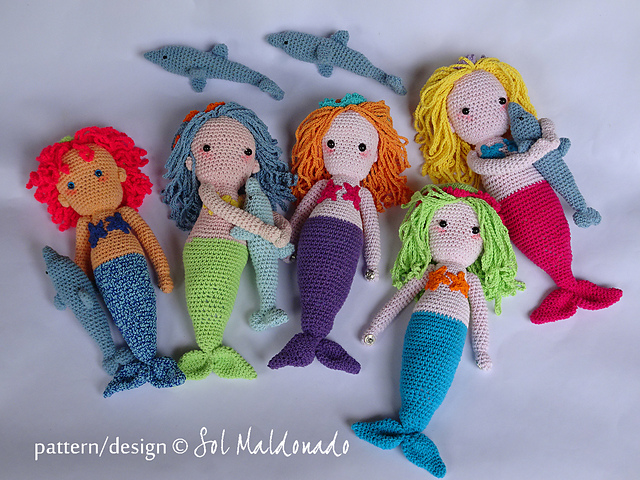 Ravelry Mermaid Doll Dolphin Amigurumi Pattern By Sol Maldonado