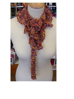 crochet curly scarf how to make