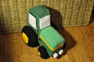 Knitting Pattern With Tractor Motif : Ravelry: Toy Tractor pattern by The Art of Crochet