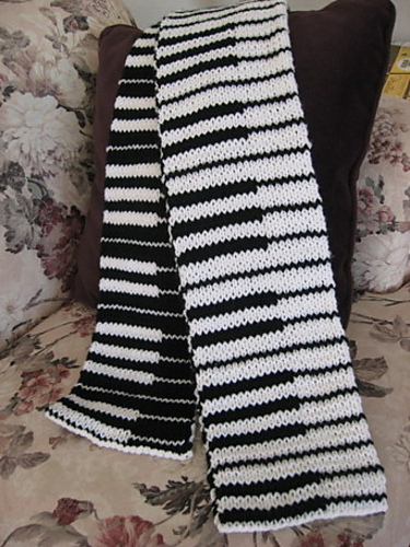 Ravelry Double Knit Piano Scarf Pattern By Judy Lamb