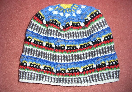 ravelry train fair isle beanie pattern by sandra jger - Fair Isle Muster