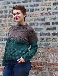Ravelry Theresa S Lace Striped Sweaters Pattern By Allyson Dykhuizen