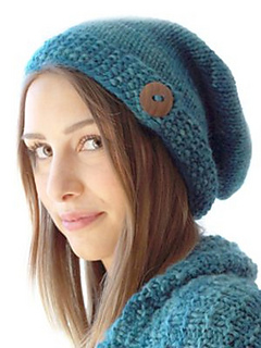 0560e5d4e797e Ravelry  Buttoned Slouch Hat pattern by Michele C Meadows