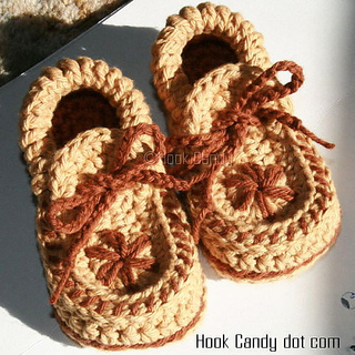 c9568c83680 Ravelry  Toddler size Moccasin Slippers pattern by Sylver Santika