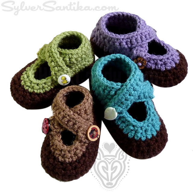 4880d592024b2 Double Strap Baby Booties pattern by Sylver Santika
