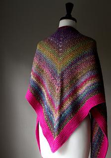 Noro Woven Stitch Shawl Pattern By Z Apasi Ravelry