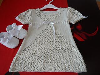 """baby dress lace """"White dance"""" pattern by tatiana Martin"""