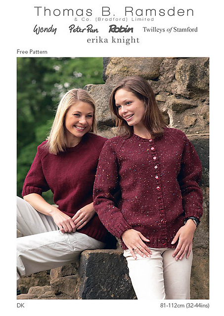 Ravelry Dk Sweater And Cardigan Pattern By Thomas B Ramsden Co