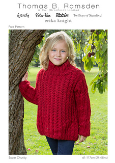 864a3328b Ravelry  Super Chunky Family Fishermans Rib Sweater pattern by Thomas B.  Ramsden   Co