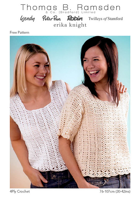 Ravelry 4ply Crochet Tops Pattern By Thomas B Ramsden Co