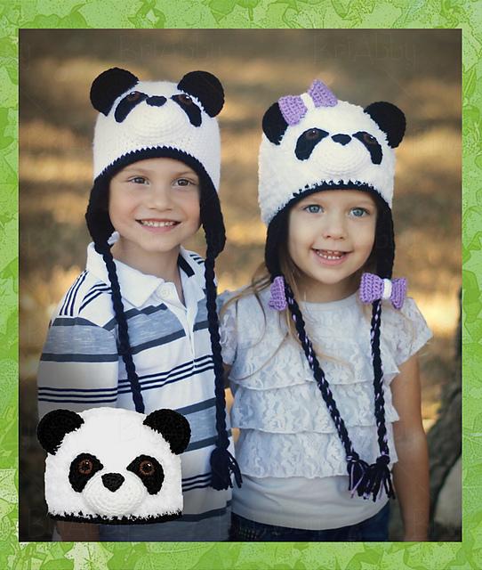 Ravelry: Furry Panda Bear Hat pattern by Joni Memmott / BriAbby