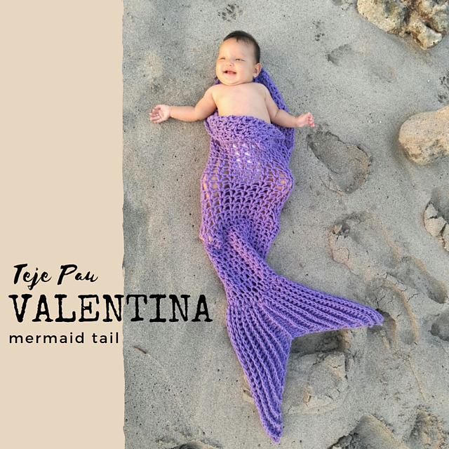 67dce692499792 Ravelry  Valentina Mermaid Tail pattern by Paula Escudero