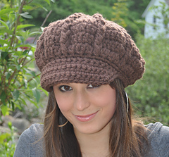 e95691fdd20 Ravelry  Crochet Newsboy Hat pattern by Eileen Tepper