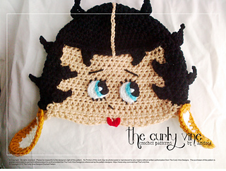 718985071ee Ravelry  Betty Boop Hat pattern by Andrea Campbell