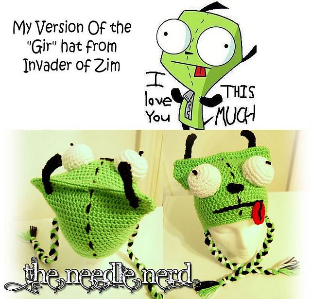 Ravelry Gir Invader Zim Crochet Hat Pattern Pattern By Darla Allen