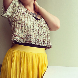 e7ea21a02f645 Ravelry  Ripple Crop Top pattern by Jessie Mae Martinson (JessieMaed)
