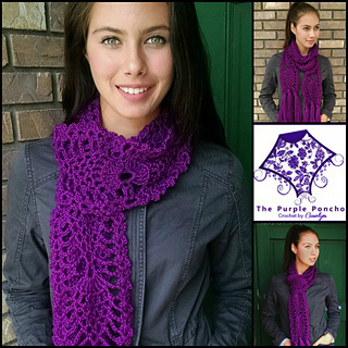 Pineapple_passion_scarf_pattern_carolyn_calderon_thepurpleponcho