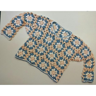 Ravelry Summer Granny Square Sweater Pattern By Katie Moore