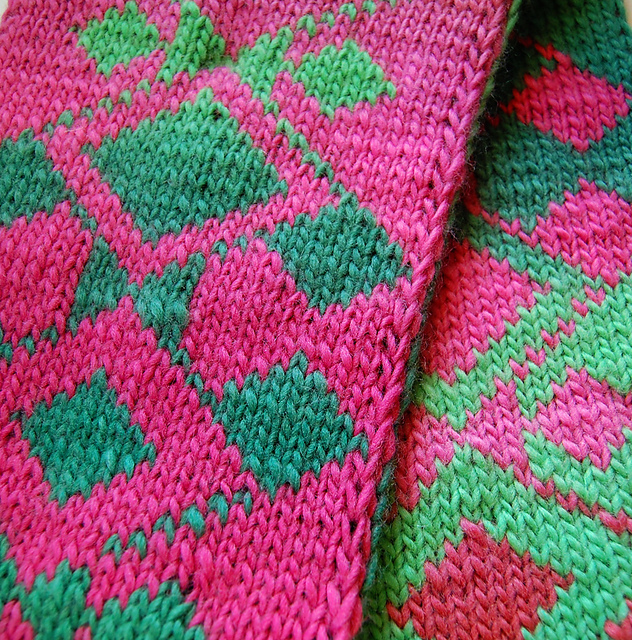 Ravelry Diamond Vines Double Knit Scarf Chart Pattern By Third Wave Extraordinary Diamond Knitting Pattern