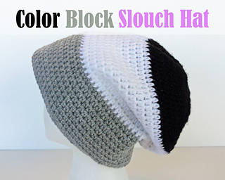 9eed65589 Ravelry: Color Block Slouch Hat pattern by Tia Davis
