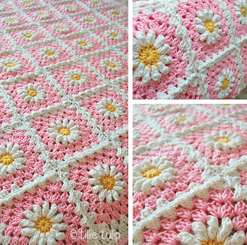 Ravelry Daisy Granny Square Pattern By Tillie Tulip