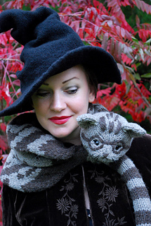 professor meow-gona-cowl pattern by tiny owl knits