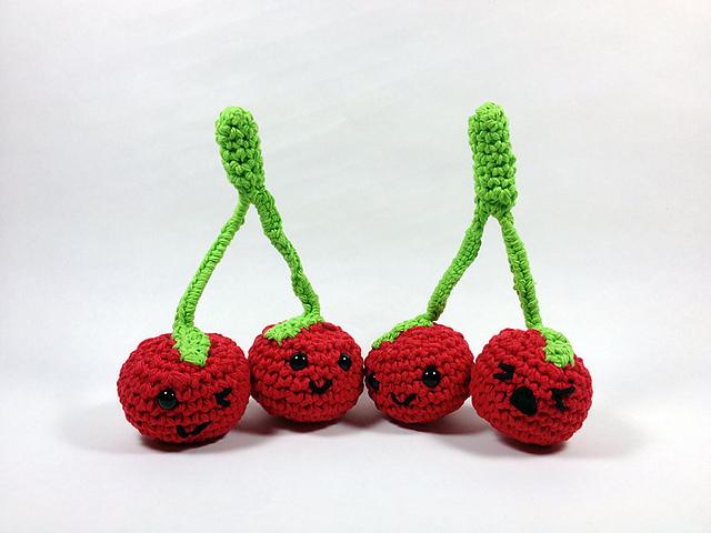 Ravelry: Amigurumi Cherries pattern by Kate Wood