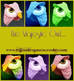Majestic Owl Hat pattern by Tera Kulling