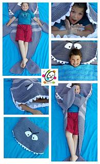 d8a2bf4b105 Ravelry  Shark Nap Blanket pattern by Heidi Yates
