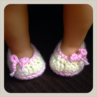 Ravelry Simply Sweet Ballet Flats 18 American Girl Doll Pattern