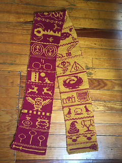 Ravelry Harry Potter Double Knit Scarf Pattern By Karen Pritchard