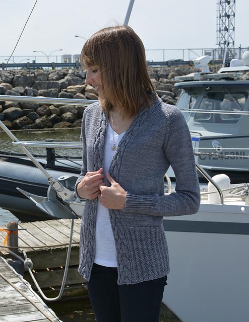 Chandail tricoté Sur mon voilier par Tricot Design MCL