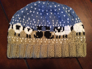 Ravelry Border Collie Amp Sheep Hat Chart Pattern By Meg Warren