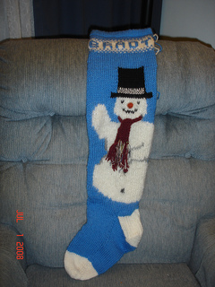 Ravelry Snowman Christmas Stocking Pattern By Ann Norling